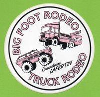 CASCADEURS LAFERTIN BIG FOOT RODEO TRUCK - CAMION - * AUTOCOLLANT 019 * - Stickers