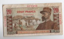 E16 Billet De Banque De Guyane Française  Guiana Banknote 20 F Emile Gentil TTB / VF - France