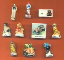Lot De 10 Feves Diverses - Winnie - Chat - Hibou - Tigre - Charms