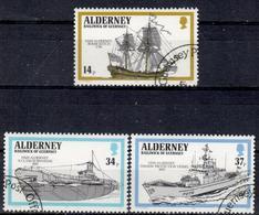 GBA+ Alderney 1990 Mi 43 46-47 Kriegsschiffe - Alderney