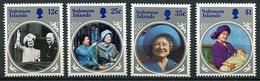 Salomon ** N° 527 à 530 - 85ans De La Reine Mere Elizabeth - Solomon Islands (1978-...)