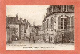 CPA - BARBONNE-FAYEL (51) - Aspect De La Grande Rue Et De La Mairie - Autres Communes