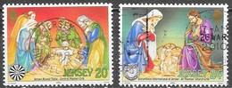 Jersey - Y&T N° 861 / 862 - Oblitérés - Lot 282 - Jersey