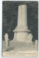 Felletin Le Monument Aux Morts Pour La France Editeur Momiron Nouvelles Galeries 1922 FAC - Felletin