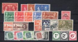 Barbados / Barbade 1927/1949 + Tax 1950 (Yvert 154/ 176-80/ 185-86/187a/190-93+tax 4/6) ** MNH /VF - Barbados (...-1966)