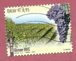 ITALIA REPUBBLICA USATO - 2015 - Made In Italy Vini DOCG - Ghemme - € 0,95 - S. 3626 - 2011-...: Usati