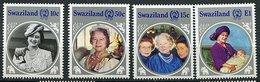 Swaziland ** N° 482 à 485 - 85ans De La Reine Mere Elizabeth - Swaziland (1968-...)