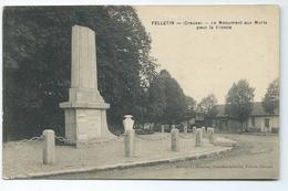 Felletin Le Monument Aux Morts Pour La France Editeur Momiron Nouvelles Galeries FAC - Felletin