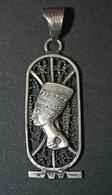 """Pendentif Médaille Religieuse égyptienne Cartouche égyptien """"Néfertiti"""" Argent Poinçon - Egypte - Silver Religious Medal - Religion & Esotérisme"""
