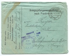 ENVELOPPE PRISONNIER DE GUERRE / KRIEGSGEFANGENENSENDUNG NACH FRANKREICH / 1918 / 24° INFANTERIE COLONIALE - Storia Postale