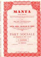 MANTA  WAASMUNSTER - Textile