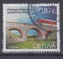 Lithuania 2015 Mi 1191 Used Railway Bridge Of Kretinga - Lithuania