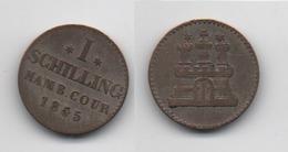 + ALLEMAGNE + HAMBOURG  + 1 SCHILLING  1855 + - [ 1] …-1871 : Etats Allemands