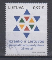 Lithuania 2017 Mi 1235 Used Diplomatic Relations With Israel - Lithuania
