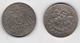 + ALLEMAGNE +2 MARKS 1904  + BREME + - [ 2] 1871-1918 : German Empire