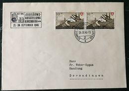 Schweiz Suisse 1946: Brief Mit  Zu PP31 Mi 472 Yv 429 Mit Automobilpost-o KIRCHBERG BERN 24.IX.46 JUBILÄUMS-AUSSTELLUNG - Schweiz