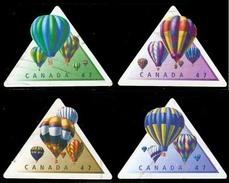 Canada (Scott No.1921a-d - Ballons / Hot Air Ballons ) (o) Set - 1952-.... Règne D'Elizabeth II