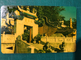 MACAU-CTM 90's MACAU VIEWS PHONE CARD - TEMPLE A MA - USED - RARE CARD - Macau
