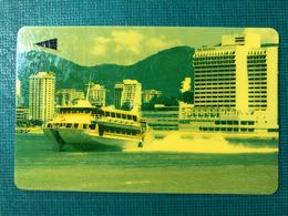 MACAU-CTM 90's MACAU VIEWS PHONE CARD - JETFOIL TO HONGKONG  - USED - RARE CARD - Macao