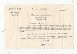Lettre ,CINE-PHOTO , établissements NICAISE , EPERNAY,1952 ,à Mr Le Curé D'ASSAIS , Deux Sèvres ,frais Fr 1.45 E - Non Classés