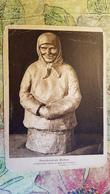 Russie, MOVIE FAN Sculpture By ZHUKOV Vintage ART NOUVEAU Russian PC  - Old Postcard 1920s - Rare! - Sculptures
