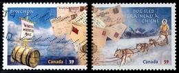 Canada (Scott No.2468-69 - Mode Dde Distribution Du Courrier / Methods Of Mail Delivery) (o) - 1952-.... Règne D'Elizabeth II