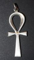 Pendentif Médaille Religieuse Croix égyptienne Ankh égyptien - Argent Poinçon - Egypte - Silver Religious Medal - Religion & Esotérisme