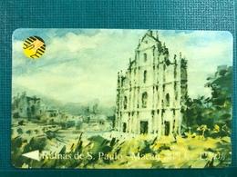 MACAU-CTM 90's MACAU VIEWS ON PAINTINGS USED - RUINS OF THE ST. PAUL CHURCH - Macau