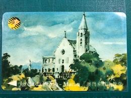 MACAU-CTM 90's MACAU VIEWS ON PAINTINGS USED - PENHA CHURCH - Macao