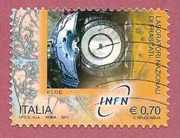 ITALIA REPUBBLICA USATO - 2014 - Laboratori Nazionali Fisica Nucleare  - Frascati Kloe - € 0,70 - S. 3509 - 2011-...: Afgestempeld