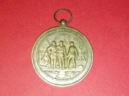 SUPERBE MÉDAILLE EN BRONZE Argentée Concours De Tir AMIEN 1929 Graveur ALP Desaide Voir Photos Dia.42 Mm 33.68 Gr - Francia