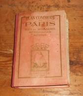 Plan Commode De Paris. Rues Et Monuments. Métropolitain. Autobus. 1946. - Paris