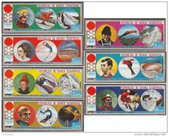 Guinea Equatoriale 1972 MI. 27-33 Olimpiadi Invernali Sapporo Equatorial Medaglie D ' Oro - Guinea Equatoriale