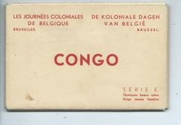 Congo Belge Les Journées Coloniales De Belgique ( Carnet De 12 Cartes ) Leopoldville Etc. - Congo Belge - Autres