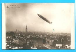 Carte Photo DÜREN Allemagne Westphalie - Ascension Du Zeppelin L.Z.127 Le 17.ix 1929 - Dirigeables
