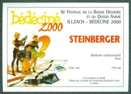 Etiquette De Vin Alsace Bédéciné 2000 - 16ème Festival BD à  Illzach Haut-Rhin , Dessin De Meynet - Fumetti