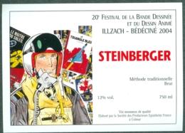 Etiquette De Vin Alsace Bédéciné 2004 - 20ème Festival BD à  Illzach Haut-Rhin , Dessin De Weinberg - Fumetti