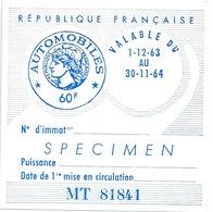 Vignette Automobile SPECIMEN 1963 - Cars