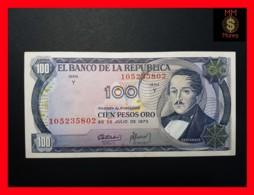 COLOMBIA 100 Pesos Oro 20.7.1973  P. 415  VF+ - Colombia