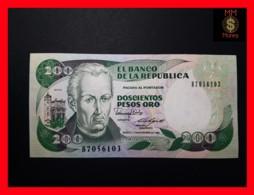 COLOMBIA 200 Pesos Oro 1.11.1989  P. 429 D UNC - Colombie