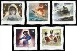 Canada (Scott No.2749-53 - Le Canada Hanté / Haunted Canada)+ (o) Série / Set - 1952-.... Regering Van Elizabeth II