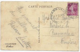 "Cachet Horoplan ""Masevaux Haut Rhin 1933"" Semeuse Frappe Superbe Luxe Cp Masevaux - Marcophilie (Lettres)"