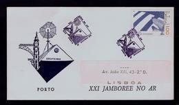 JAMBOREEE ON AIR Scouting Scoutisme Portugal Porto Ponts Bridges Scouts Telecommunications (pmk Special 2R-cover) Gc3636 - Scoutisme