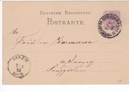 Ganzsache DR P12/01 8 83, Hirschberg 6.5.1884 Nch Danzig - Danzig