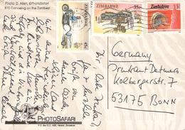 ZIMBABWE - PICTURE POSTCARD 1995 -> BONN/GERMANY - Zimbabwe (1980-...)