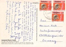ZIMBABWE - PICTURE POSTCARD 1994 -> BONN/GERMANY - Zimbabwe (1980-...)