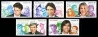 Canada (Scott No.2773-77 - Célèbres Humoristes Canadiens / Great Canadian Comedians) (o) Série / Set - 1952-.... Regering Van Elizabeth II