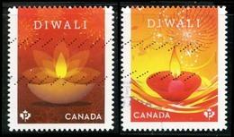 Canada (Scott No.3024-25 - Diwali) (o) - 1952-.... Règne D'Elizabeth II