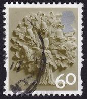 GB QE2 ENGLAND Regional 60p Oak Sc#22 USED @Q64 - Regional Issues