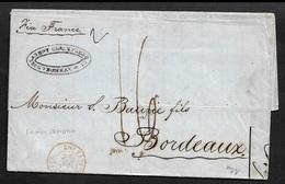 1859 LAC BOMBAY, L'INDE A BORDEAUX - Via SUEZ - Marcophilie (Lettres)